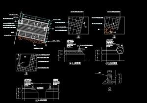停车场多个铺装素材设计cad施工图