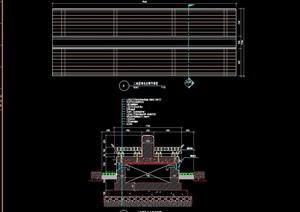特色坐凳详细完整设计cad施工图