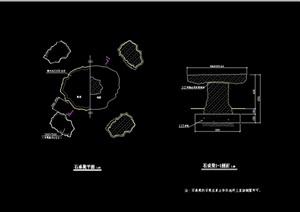 花岗石凳子设计cad施工图