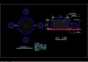 仿树桩桌凳素材设计cad施工图