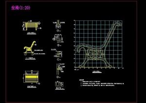 凳与椅组合素材设计cad施工图