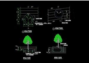 园凳树池详细设计cad施工图