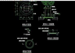 现代风格详细树池树坑设计cad施工图