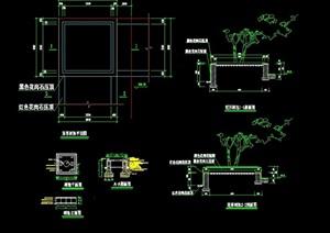 现代矩形树池设计cad施工图