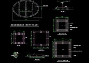 方形详细的树池坐凳素材设计cad施工图