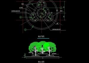园林景观详细的节点树池设计cad施工图