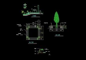 园林景观详细的经典树池设计cad施工图