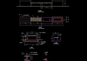 精致详细的完整坐凳cad施工图
