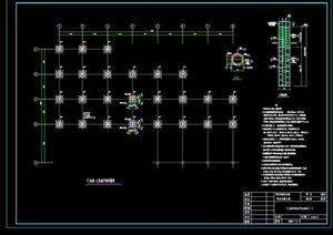 亲水平台结构cad方案图