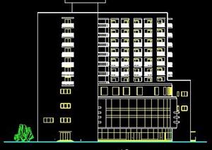 现代小高层综合楼建筑方案图