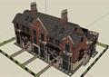 欧式风格多层详细四联排建筑别墅设计su模型