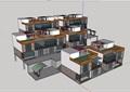 某小区住宅现代别墅设计su模型
