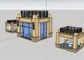 某详细的完整住宅小区大门素材su模型