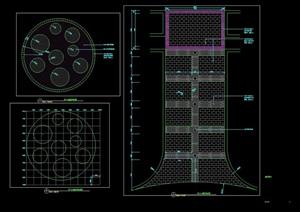 某现代地面铺装详图设计cad平面方案