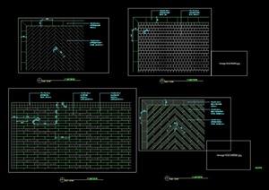 三种不同的铺装设计cad详图
