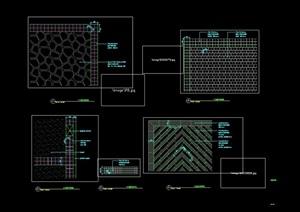三种详细的铺装铺地设计cad施工图