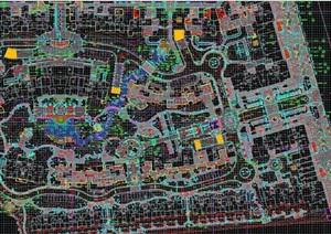 某现代整体住宅小区规划cad方案