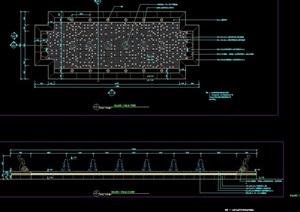 喷泉水池水景素材设计cad施工图