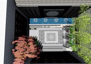 庭院中式景观设计SU(草图大师)模型