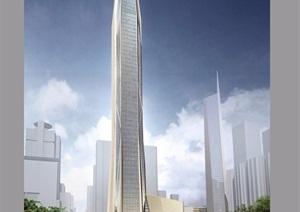某現代風格金融中心辦公大廈建筑樓設計pdf、ppt方案