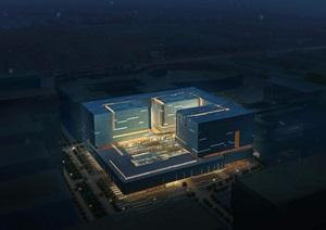 某现代风格档案中心详细建筑设计jpg方案