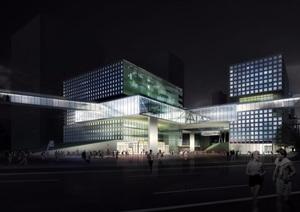 软件园办公详细多层建筑设计pdf方案