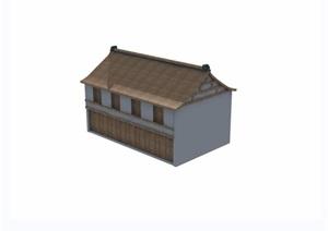 两层中式民居住宅楼设计3d模型及效果图