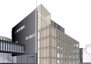 某现代风格商业办公住宅综合体精品建筑SU(草图大师)模型