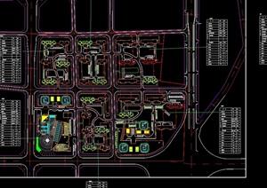 振三街住宅小区景观规划cad方案图