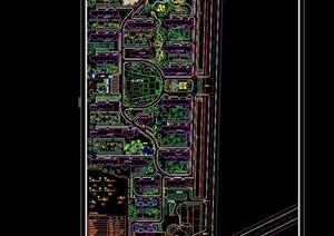 某现代风格详细完整的住宅小区规划cad方案