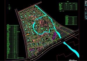 完整详细的住宅整体小区规划设计cad方案