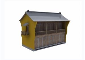 两层详细的住宅民居建筑3d模型