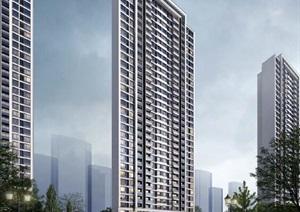 高层住宅-现代典雅立面-标准化成果-模型SU(草图大师)