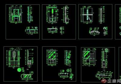 多种不同的室内门厅设计cad施工图