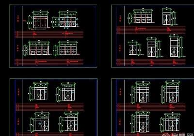 建筑详细门窗cad大样详图