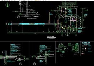 某現代詳細門衛大門素材設計cad施工圖