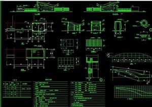 详细的完整门卫大门建筑cad施工图