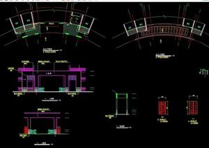 某北大门详细素材设计cad施工图