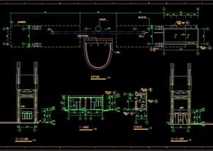 门卫室大门详细素材建筑cad施工图