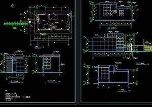 现代风格门卫大门设计cad施工图