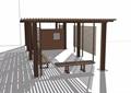 现代防腐木详细廊架素材设计su模型