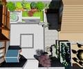 中式露台屋顶花园景观设计su模型