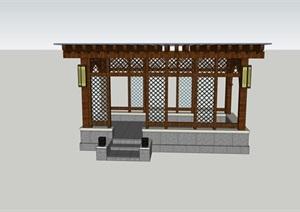 新亚洲廊架 凉亭 中式元素丰富