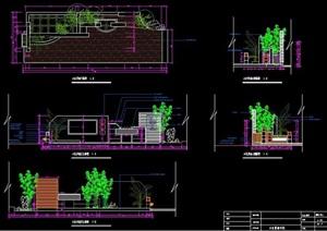 新中式景观墙设计CAD图纸