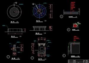圆形树池设计CAD图纸