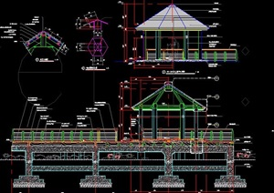 中式水榭凉亭设计图纸