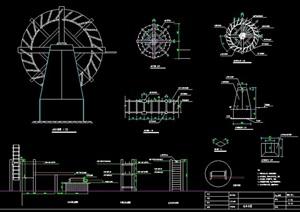 景观水车设计CAD图纸