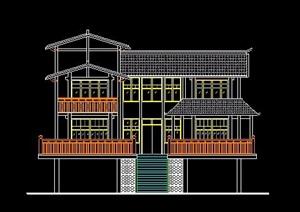 中式风格民居建筑设计图纸
