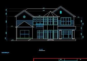 现代二层别墅建筑设计cad图纸