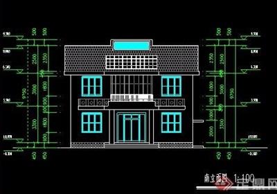 二层民房自建房住宅建筑图纸